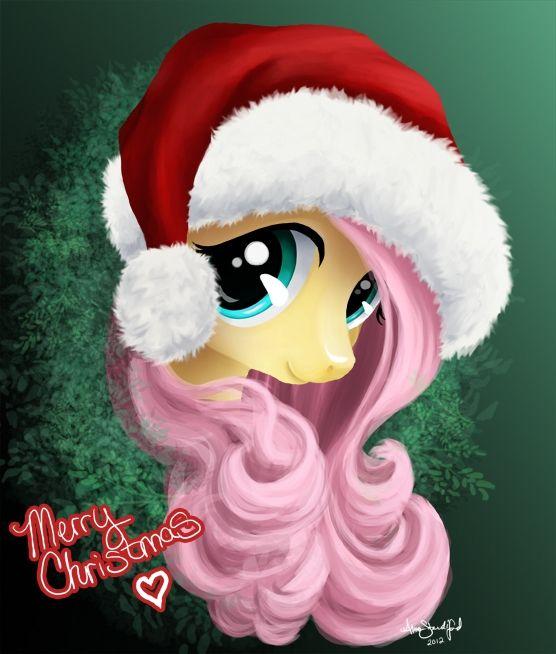 Fluttershy Santa hat.