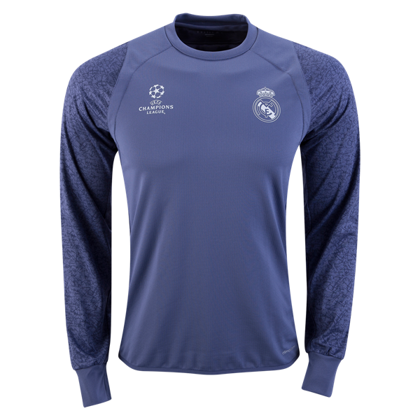 Real Madrid Ls Europe Training Top Get Match Ready For The 2016 17 Uefa Champions League Training Tops World Soccer Shop Long Sleeve Tshirt Men