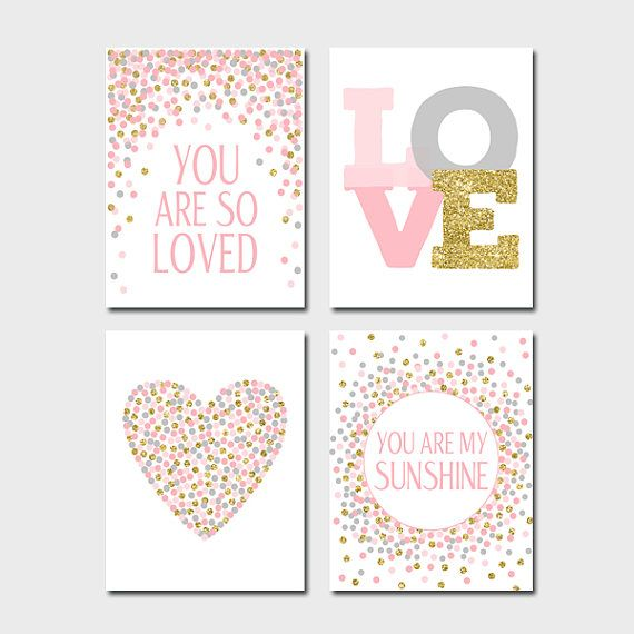 Set of Prints You Are So Loved Print You Are My Sunshine Quote Print ...