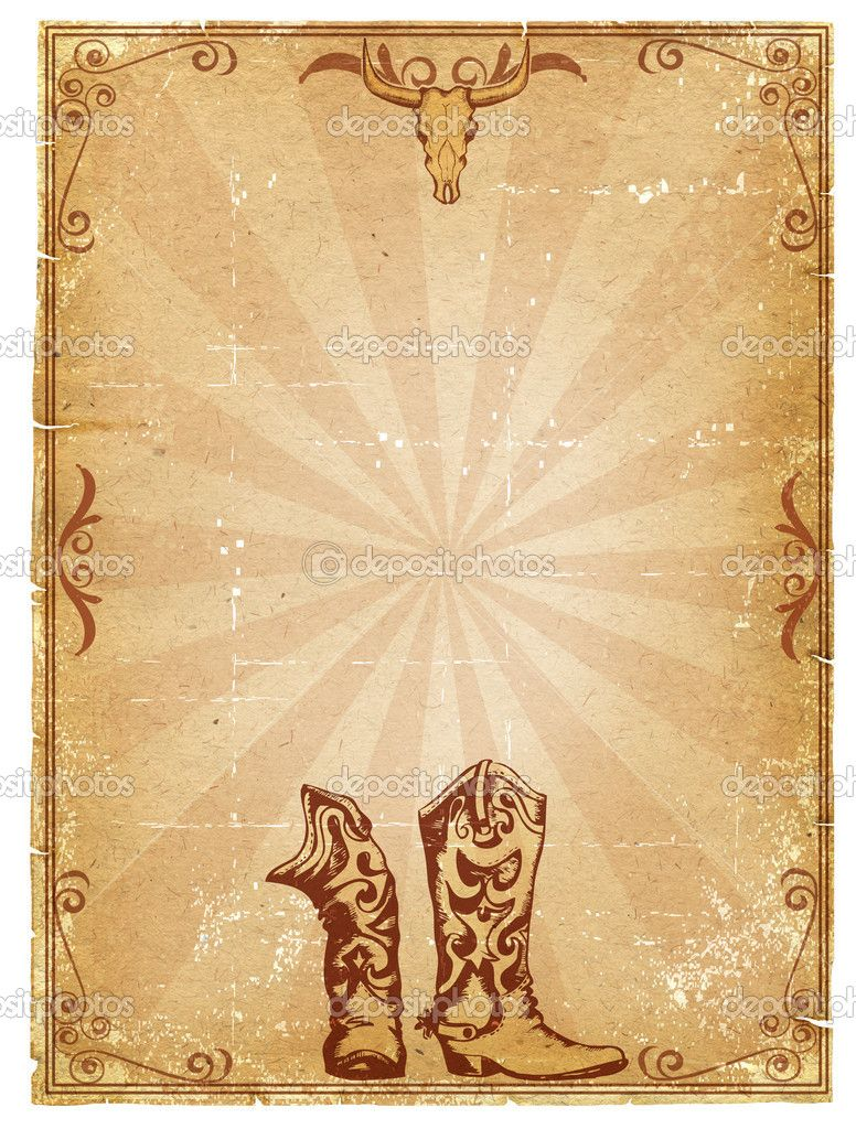 western stationary paper | Cowboy old paper background for text with ...