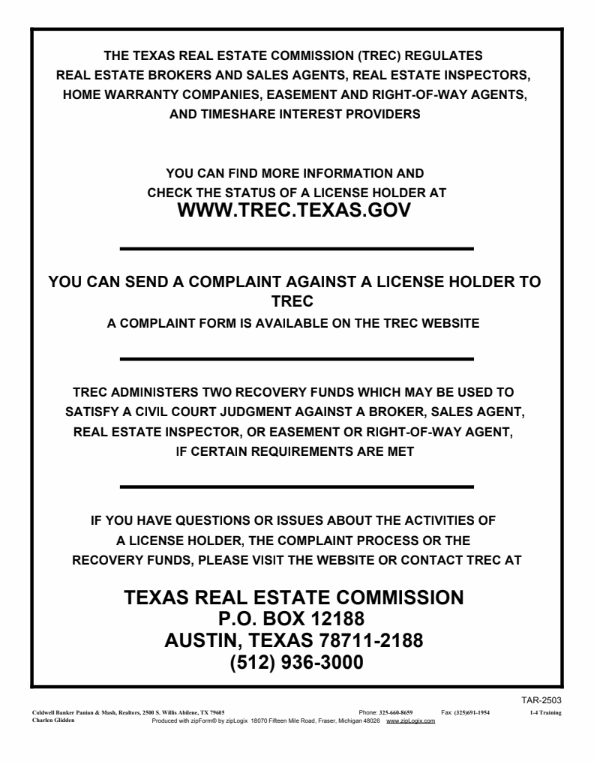 Texas Real Estate Commission S Consumer Protection Notice Texas Real Estate Home Warranty Companies Real Estate Broker