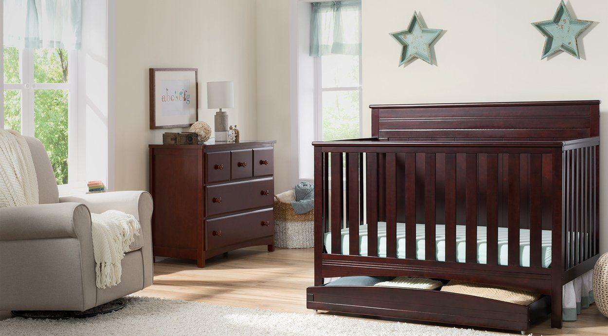 Brooks Collection In Dark Chocolate Nursery Furniture Set Delta Children In 2020 Nursery Furniture Sets Cribs White Crib Nursery