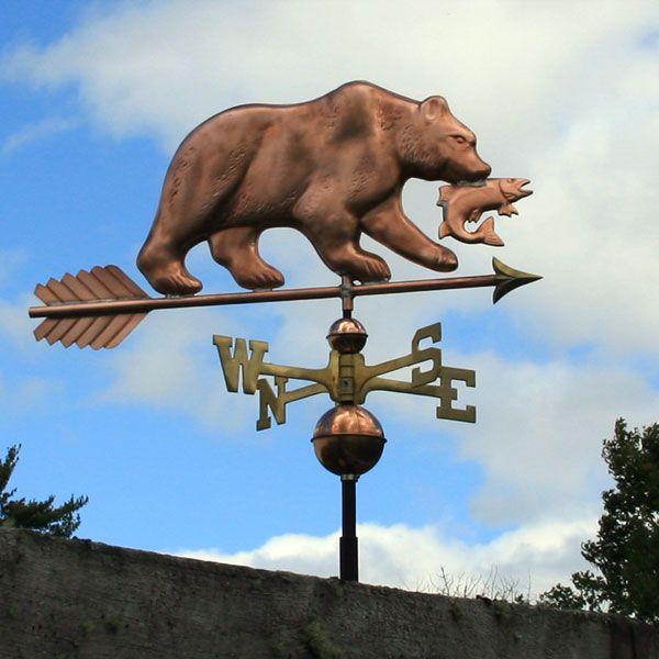 Copper Bear Weathervane Copper Copper Roof Weathervanes
