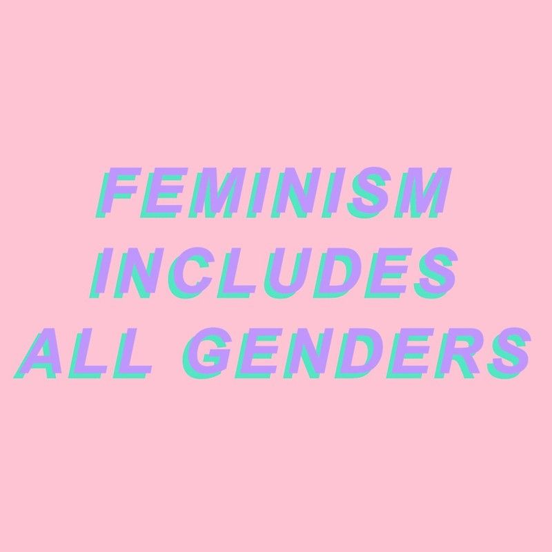 Feminism Includes All Genders Sticker by Hope Elizabeth