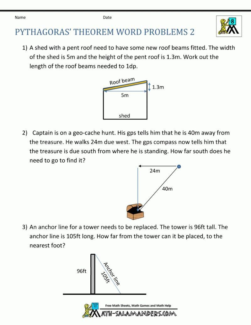 Pythagorean Theorem Word Problems Worksheet 40 Innovative Pythagorean Theorem Worksheet For Word Problems Word Problem Worksheets Pythagorean Theorem Worksheet
