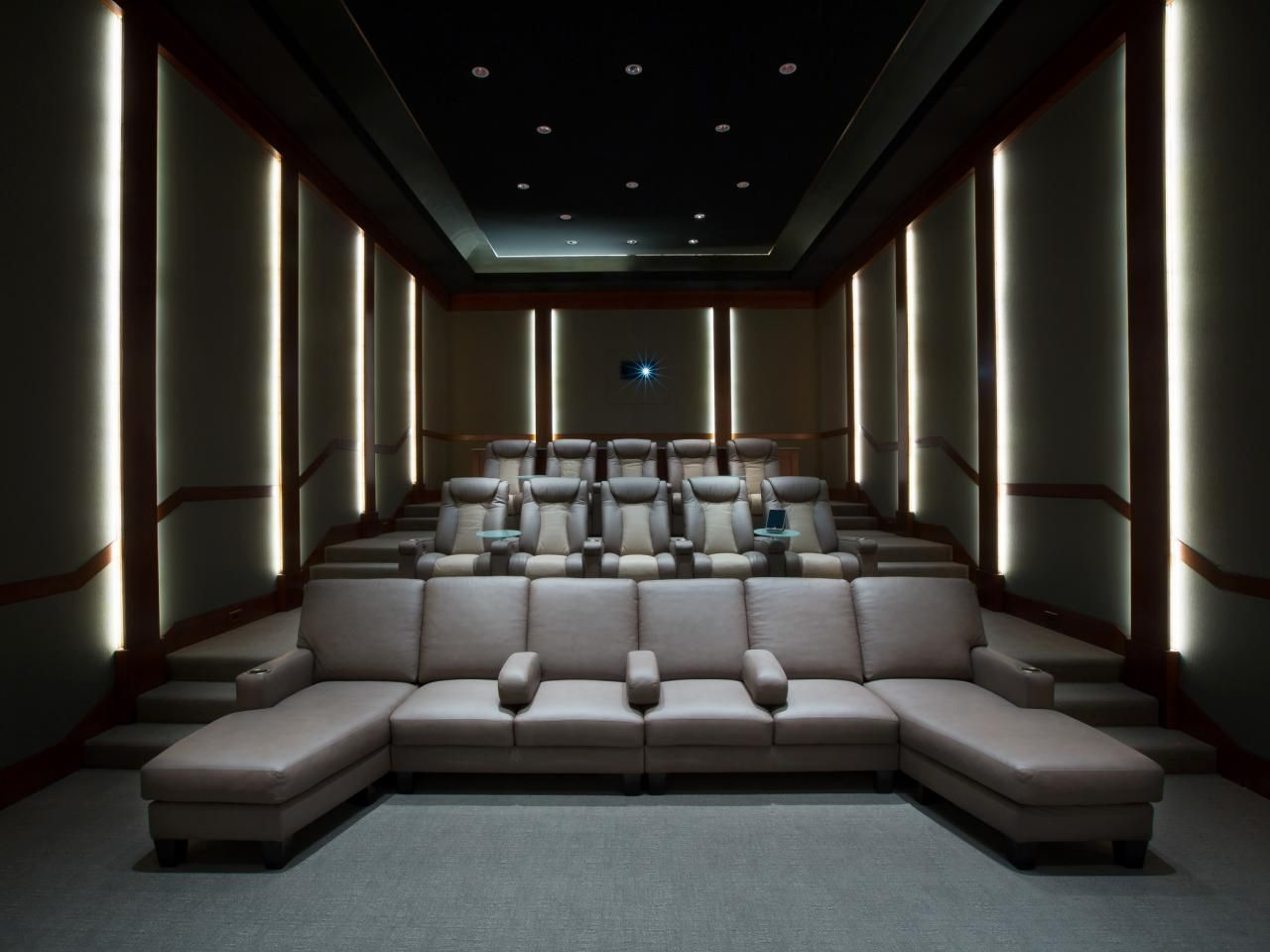 More ideas below: DIY Home theater Decorations Ideas Basement Home ...