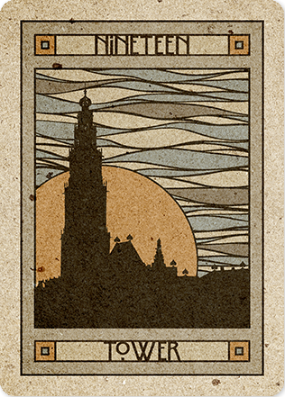 CHELSEA LENORMAND Tarot art, The tower tarot, Card art