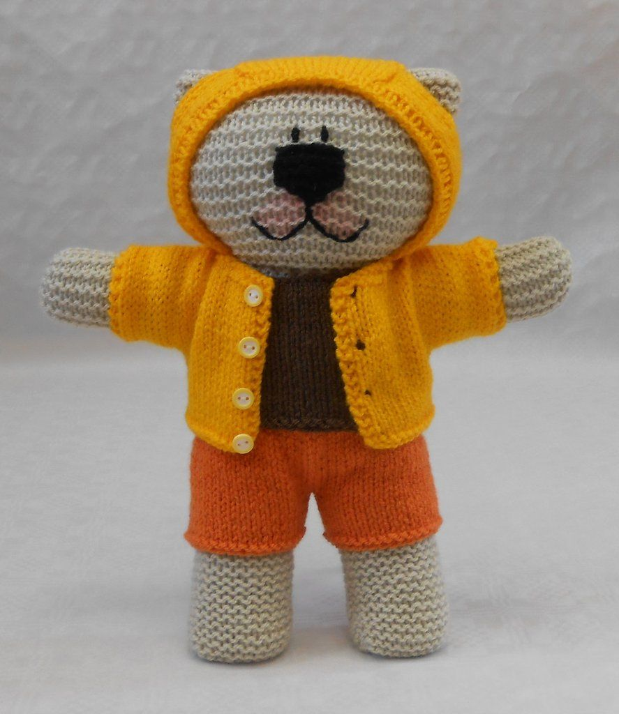 Knitted Teddy Bear Kit and pattern for hoodie, shorts and T Shirt ...