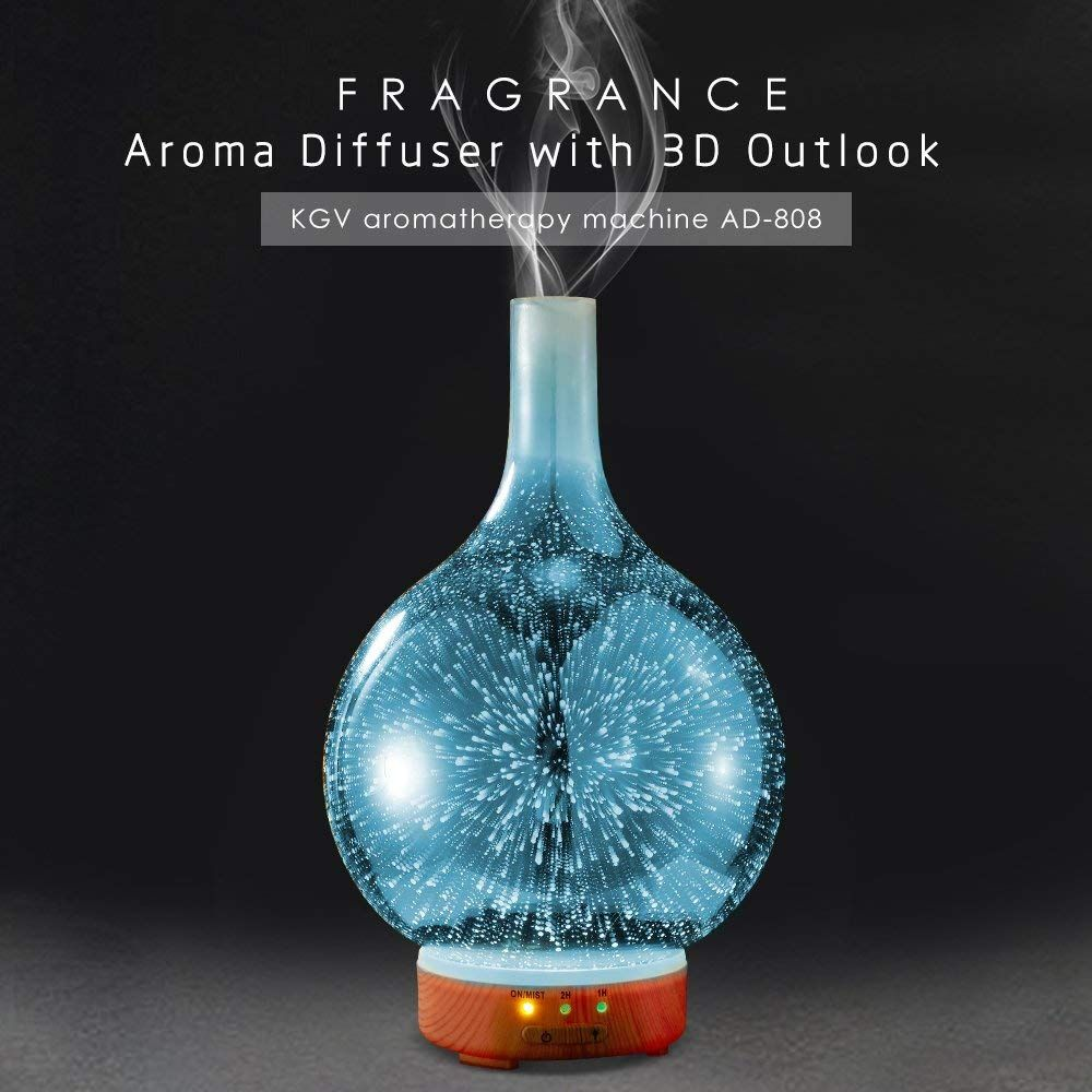 Ultraschall Luftbefeuchter Aromatherapie Luftreiniger Diffuser Duftlampe DE NEW