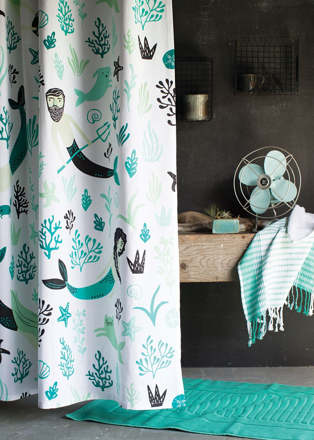 Sea Spell Shower Curtain