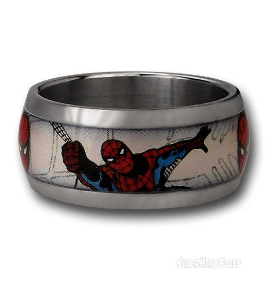 Spiderman Webhead Ring Spiderman Ring and Weddings
