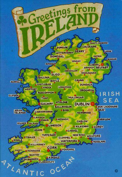 Wexford Map Of Ireland.Map Of Ireland Multicultural Festival Ireland Ireland Map