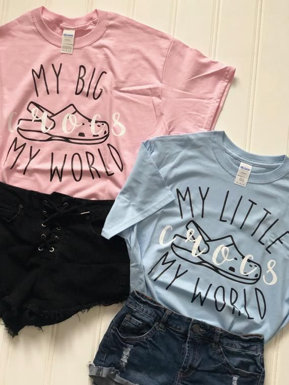 Sorority Big/Little Reveal T-shirts (Croc Theme)  | Gildan | Comfort Colors | Bella+Canvas #biglittlerevealthemes