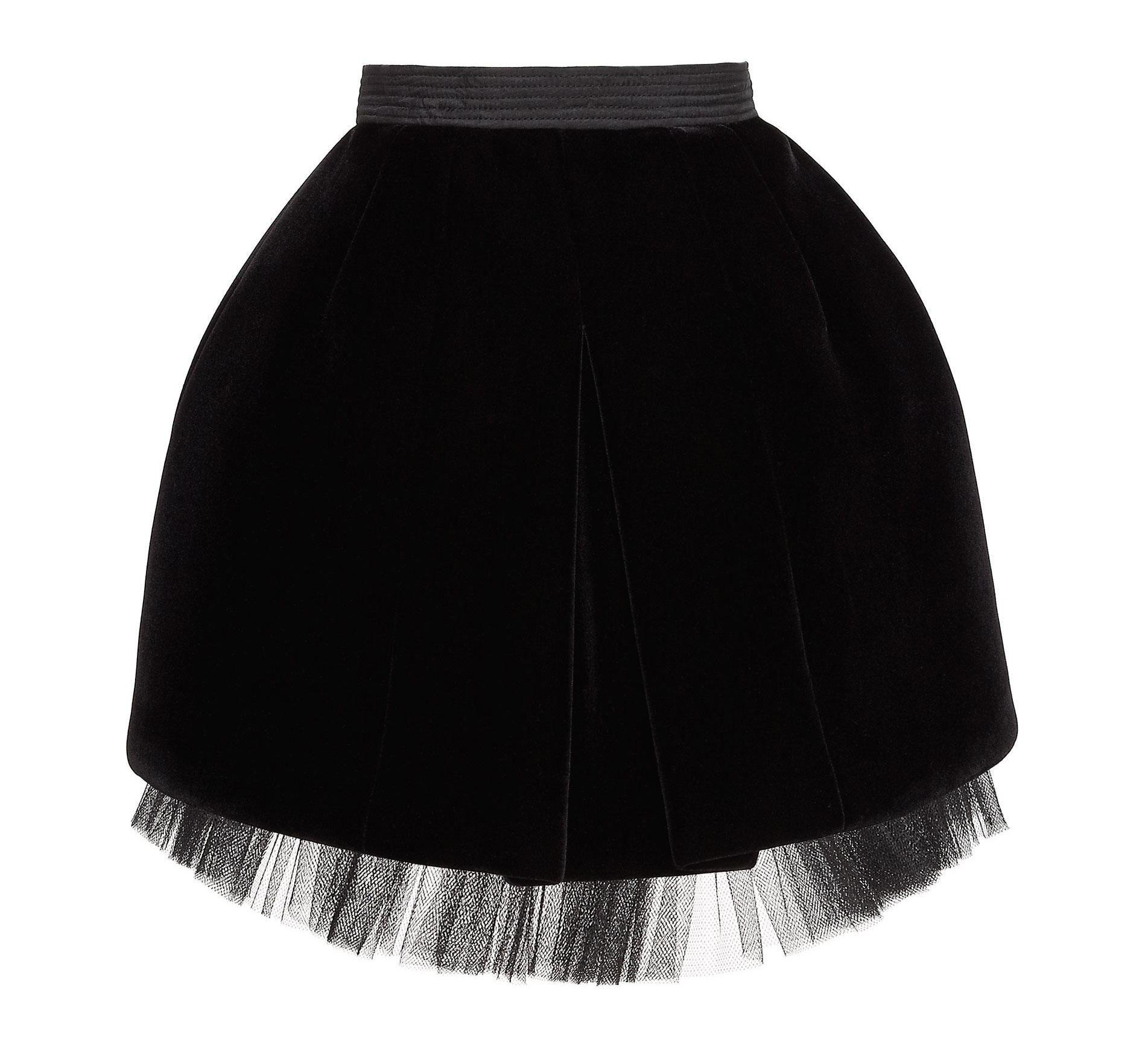 Marc by Marc Jacobs Semona Velvet Moulded Skirt in Black