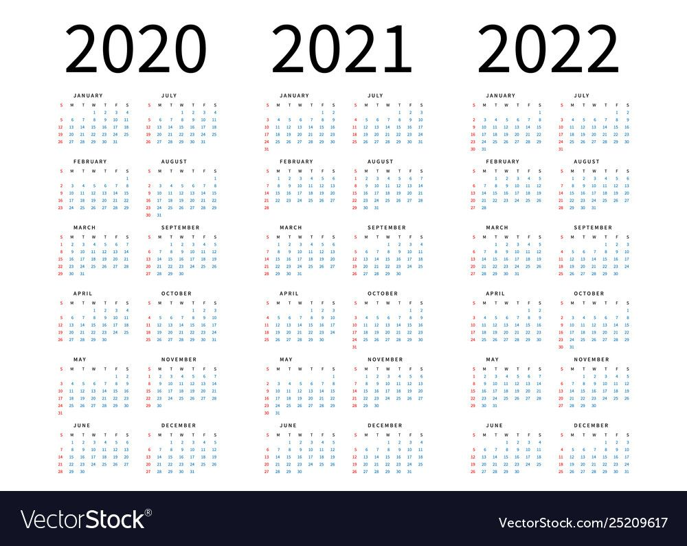 Mockup Simple Calendar Layout For 2020 2021 And Vector Image Affiliate Calendar Layout Mockup Simple Ad Vector Free Line Art Vector Calendar Layout