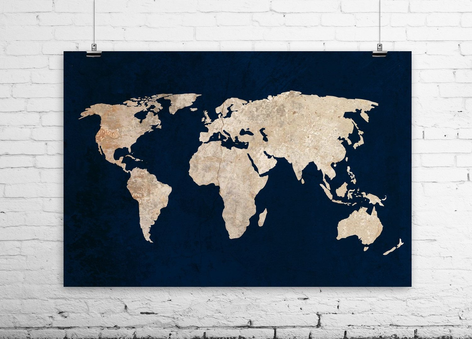 New to bysamantha on etsy inverted world map art print rustic new to bysamantha on etsy inverted world map art print rustic vintage style world gumiabroncs Image collections