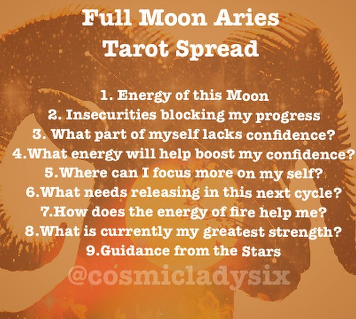 Full Moon in Aries Tarot Spread #fullmoontarotspread