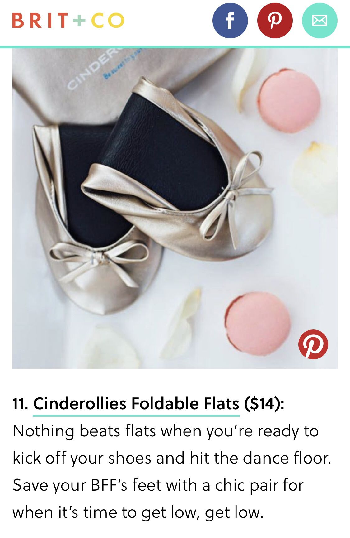 1c573ca0af66c These are the best folding flats for bridesmaids gifts and wedding guests.  Comfy