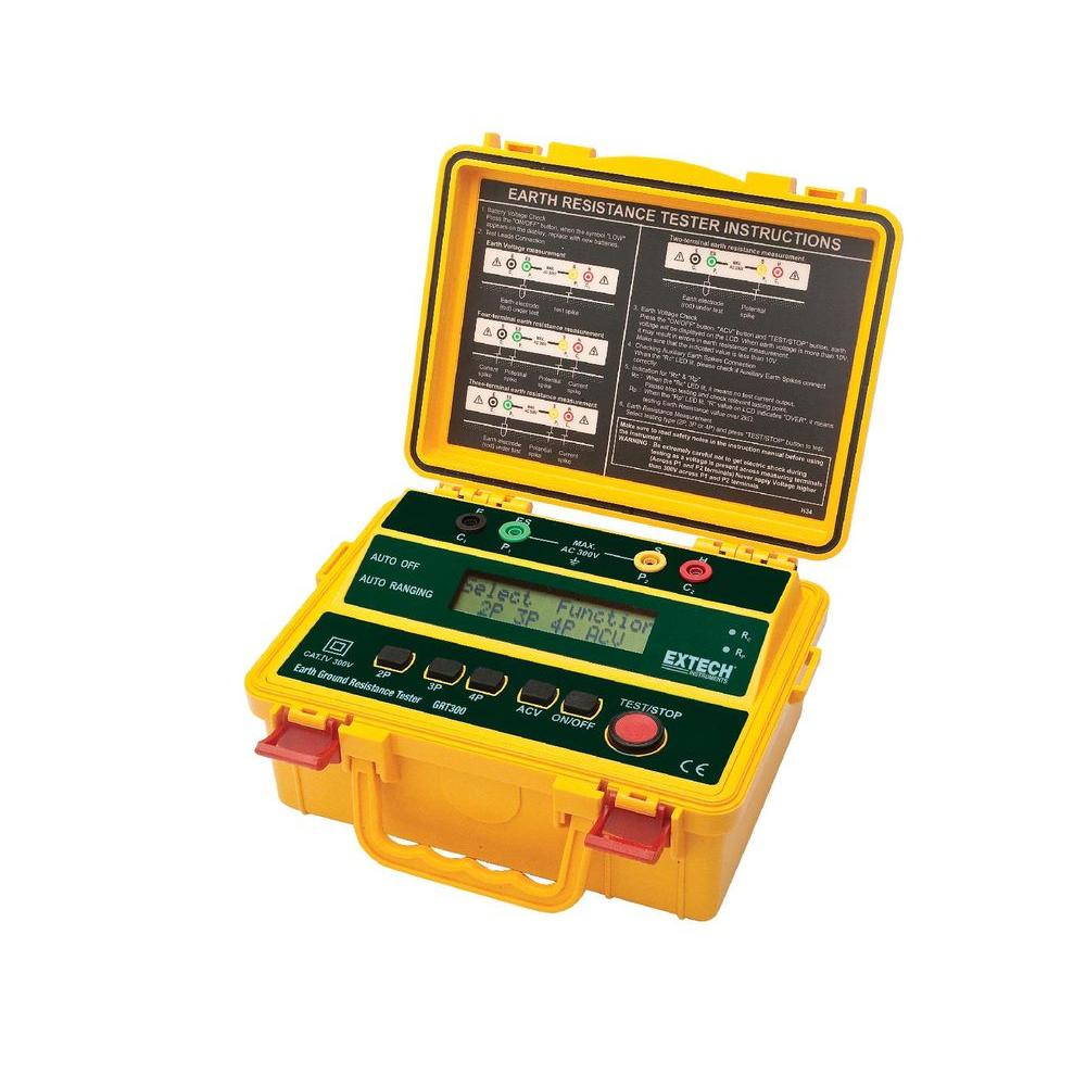 hight resolution of extech instruments 4 wire earth ground resistance tester with limited nist