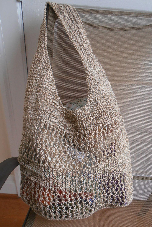 Knitted Market Bag Kit on Etsy | Handbags | Pinterest | Jute, Cotton ...