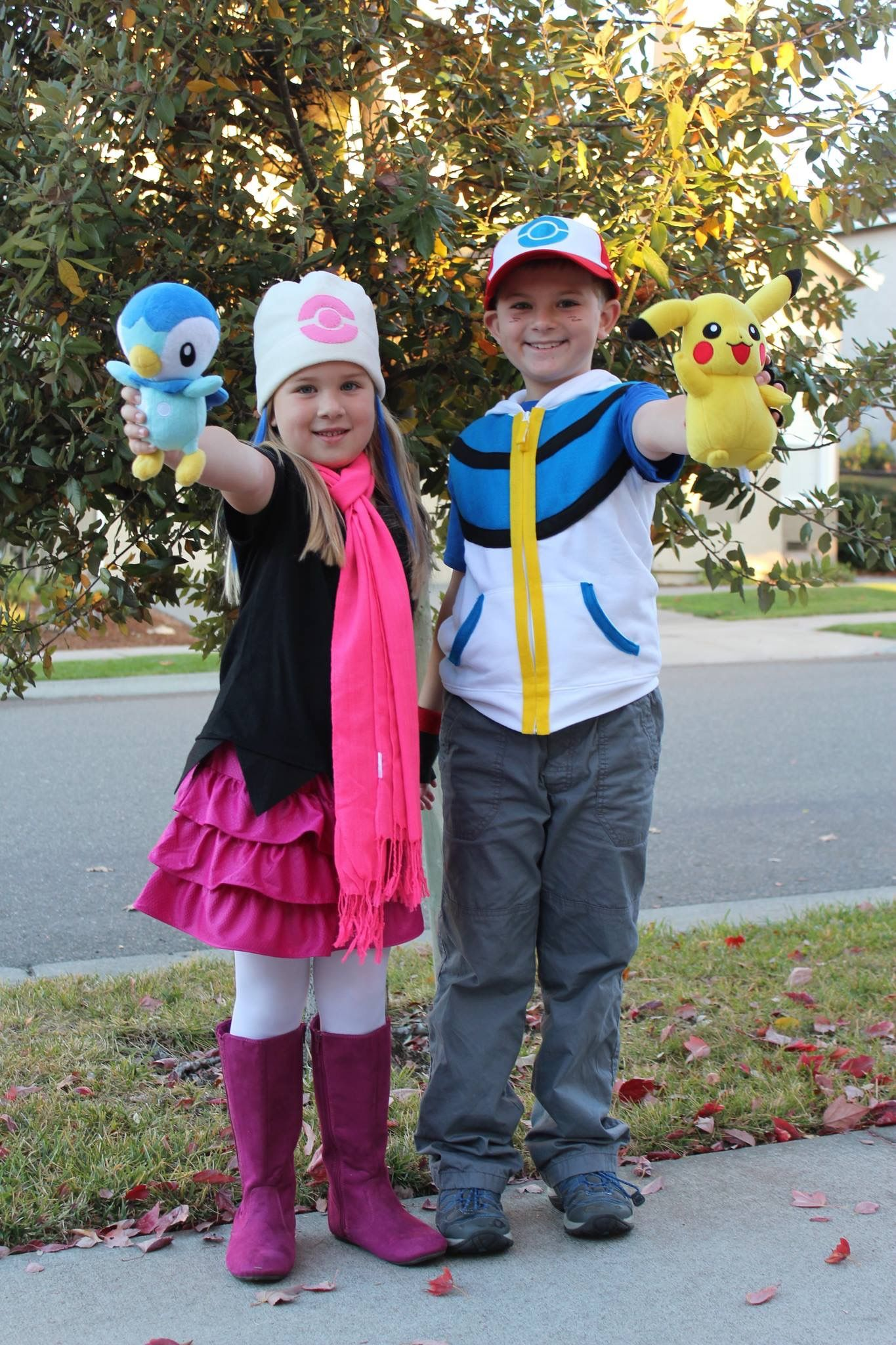Dawn and Ash. Homemade costumes for Halloween 2013.  sc 1 st  Pinterest : dawn from pokemon costume  - Germanpascual.Com