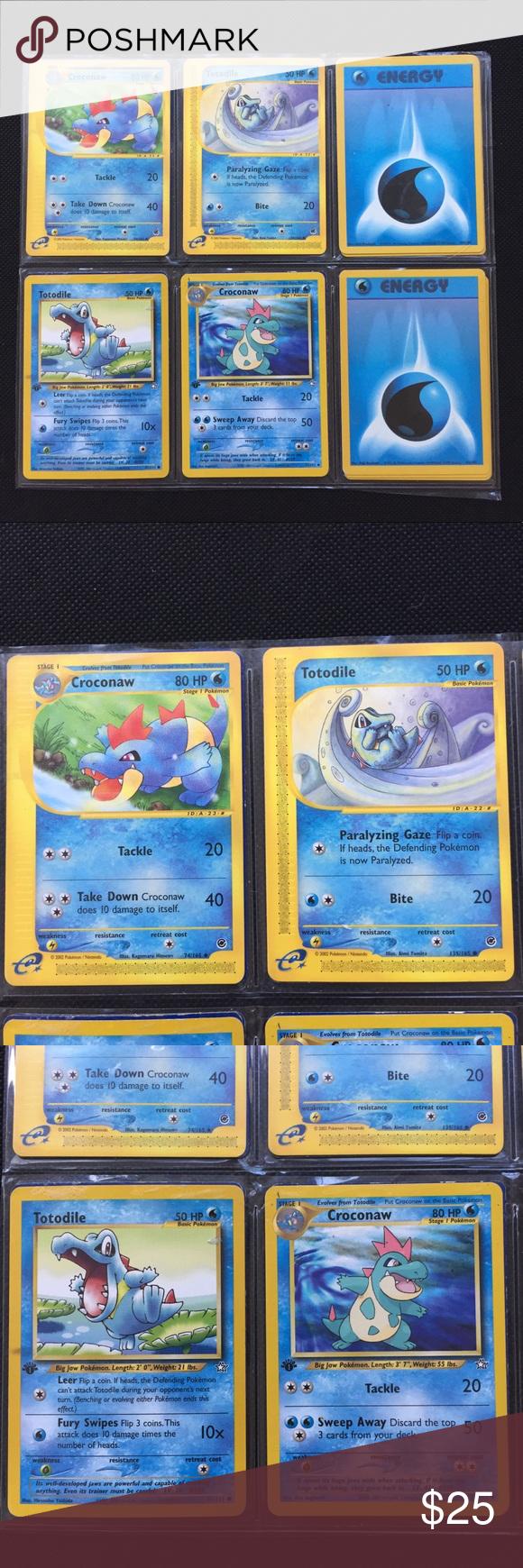 SOLD* Ultimate Totodile Evolution Set 💧 Original pokemon
