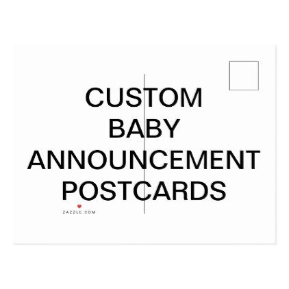 Custom Personalized Baby Announcement Postcards create your own – Create Your Own Baby Announcement