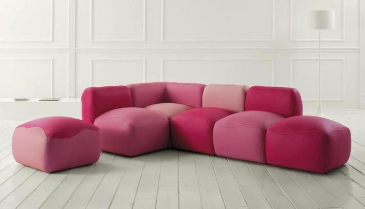 , Lovely Unique Deluxe Pink Sofa Daily Interior Design Inspiration: amazing and unique sofa design