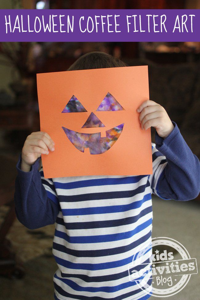 halloween jack o lantern art project for kids - Halloween Toddler Art Projects