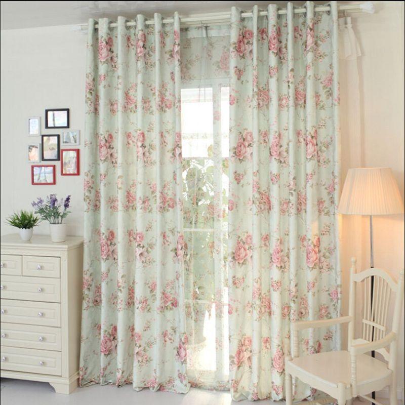 Flor de hilo cortina cortinas de tela de cortina de tela for Cortinas de tela