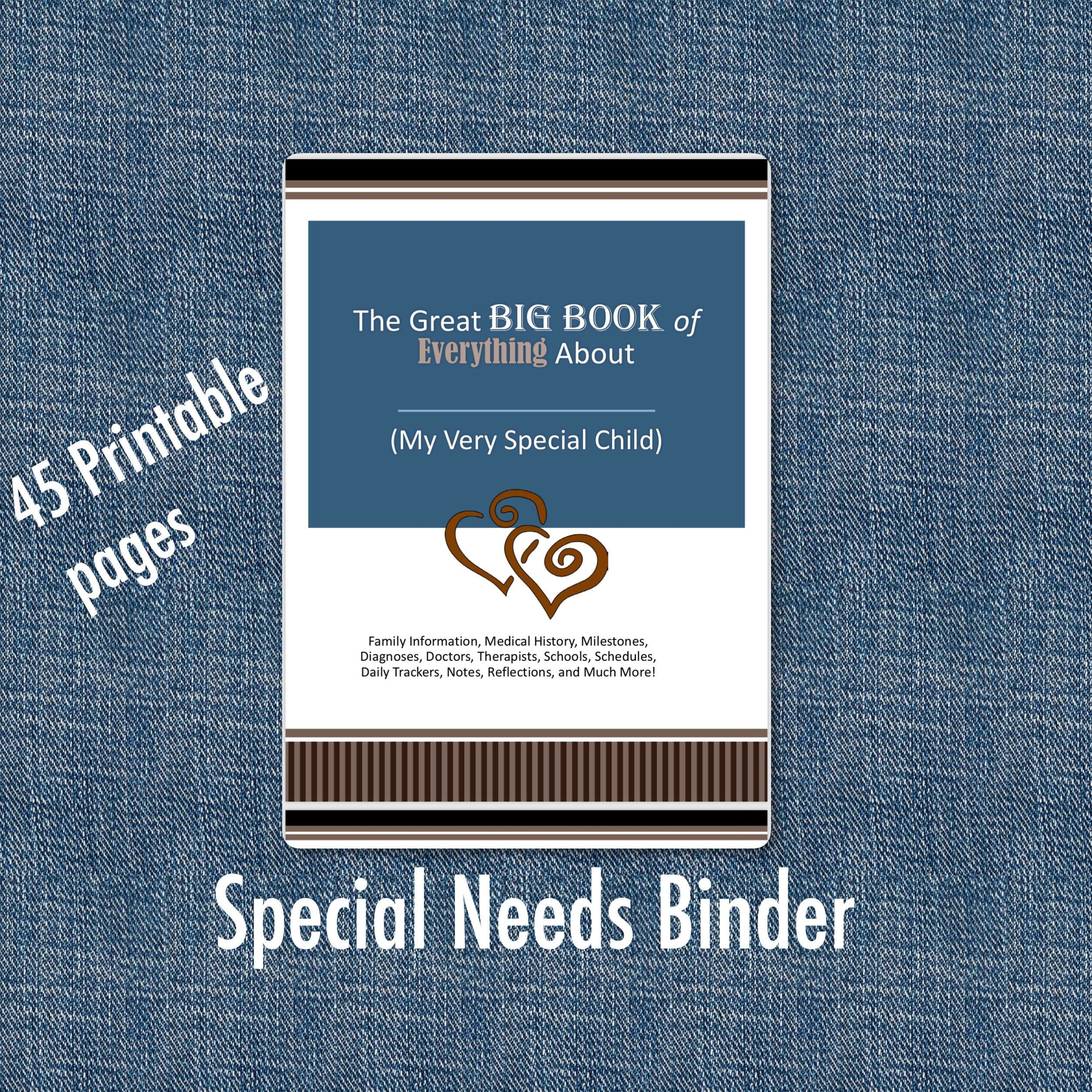Special Needs Binder, Medical Binder, Autism Binder, Down