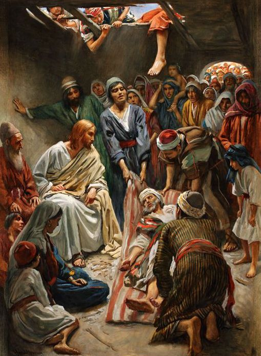 Harold Copping Jesus Heals The Paralytic