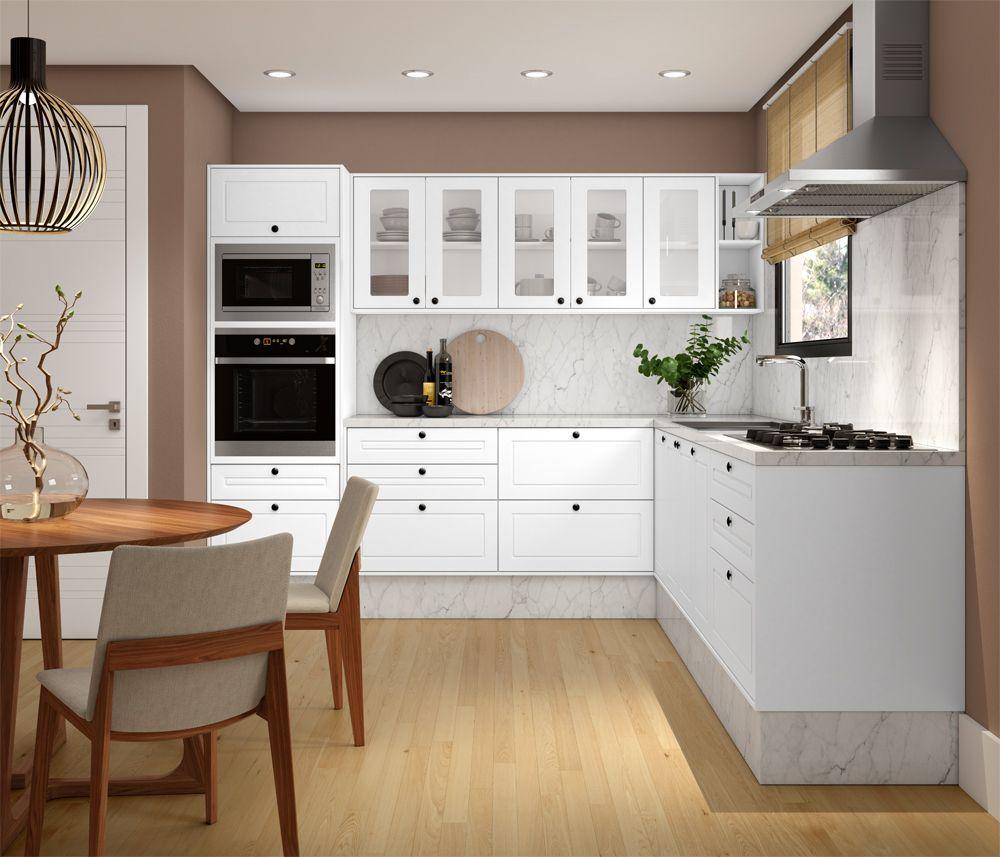 Cozinha Colonial Caixa Branco Frentes Colonial Branco Pet E