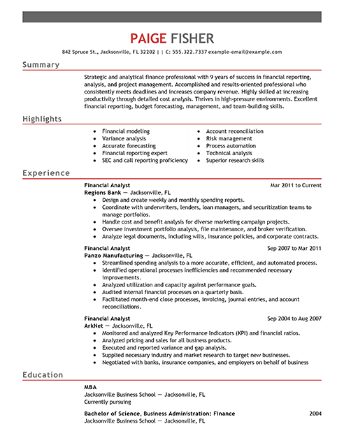 Entry Level Business Analyst Resume In 2020 Firefighter Resume Resume Examples Job Resume