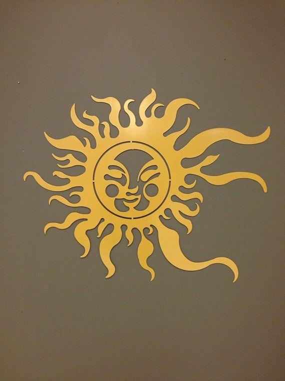Summer Sun Metal Wall and Garden Art 36x24\