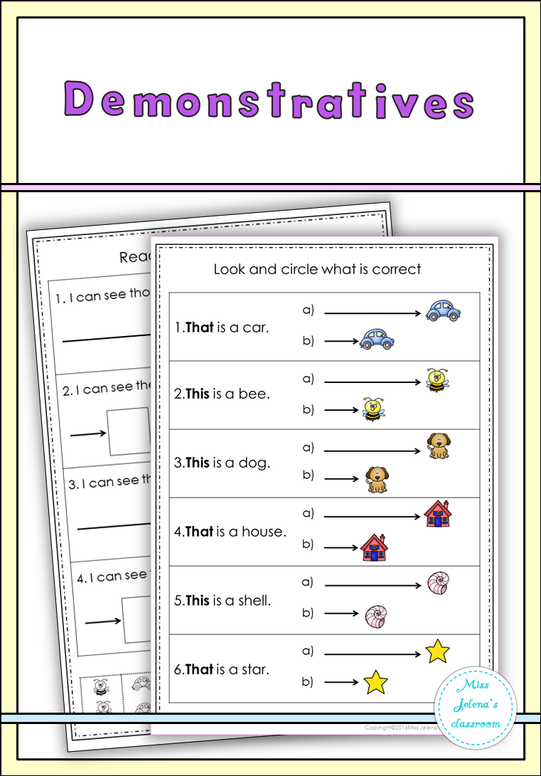 small resolution of Demonstratives Set   Demonstrative pronouns