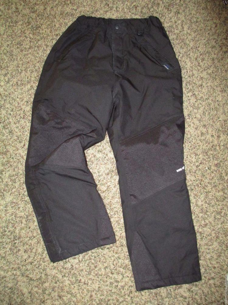 27a00b1d70e L.L. Bean Youth Unisex Black Snow Ski Pants Boys Girls Size 14 16 ...