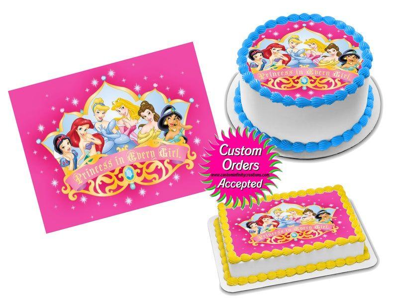 Disney princess edible image icing frosting sheet 22 cake