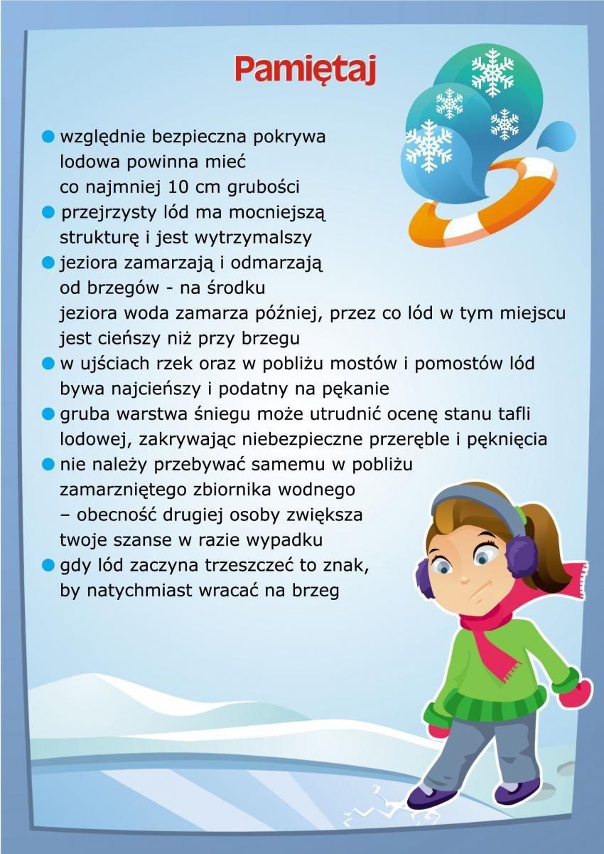 Bezpieczna Zimowa Zabawa Nad Woda Rymowanki Reguly Klasowe