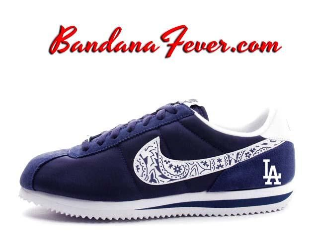 new style b241a 91208 Custom Dodgers Nike Cortez Nylon Midnight Navy White,  baseball  Dodgers   LADodgers by Bandana Fever  Nike  nikeair  love  sports  Shoes  running   nikeshoes ...