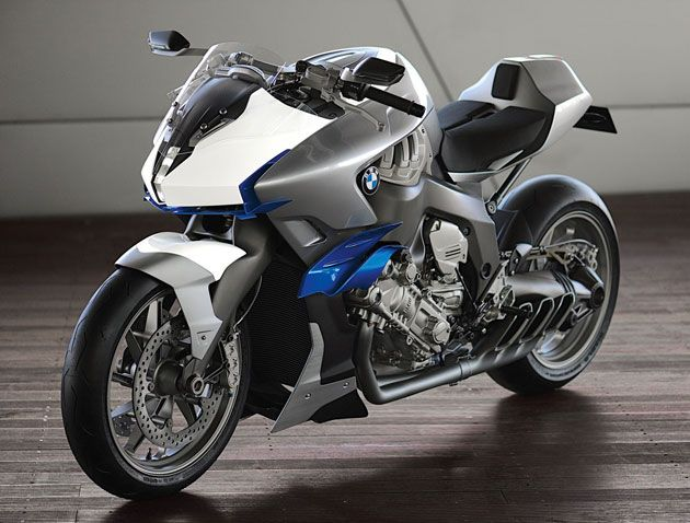 Bmw Defies Logic With Six Cylinder Concept 6 Motorcycle Concept
