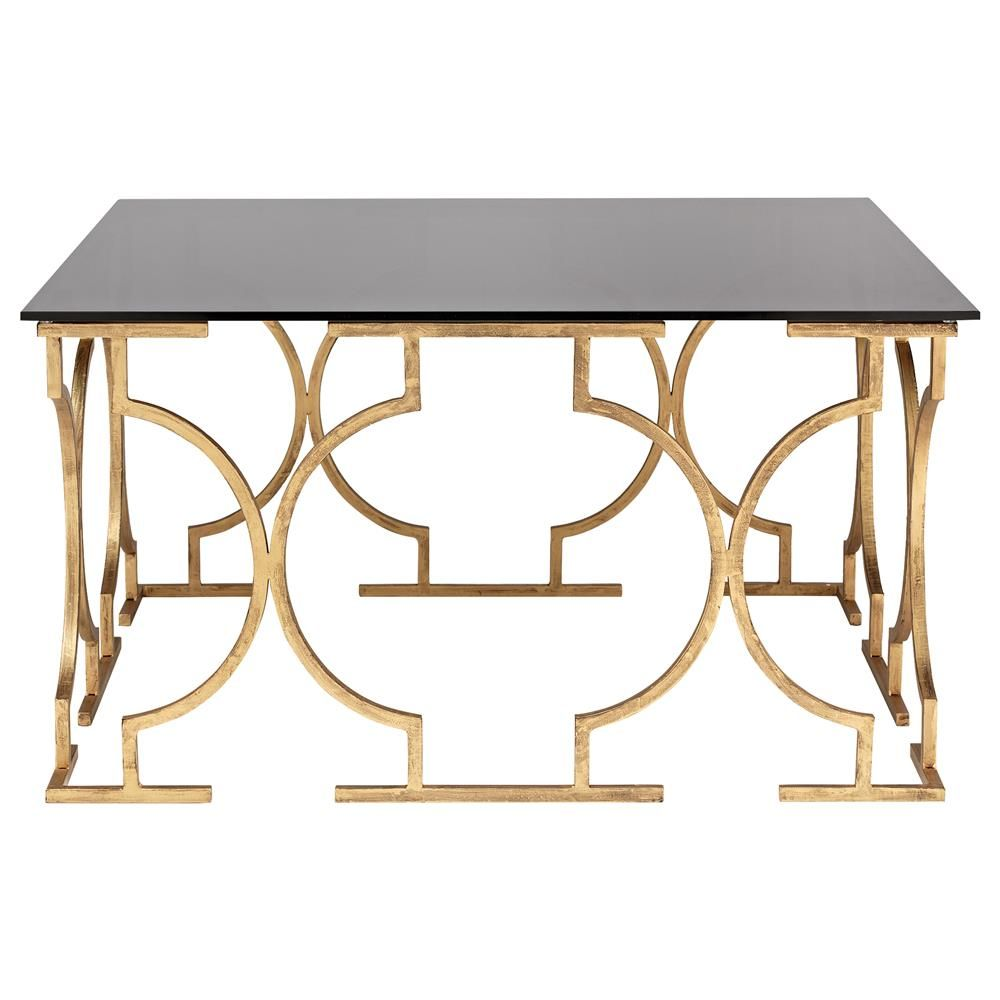 Atelier eclectic coffee tablecoffee tableaccent tables atelier eclectic glass top coffee table with gold legs geotapseo Gallery