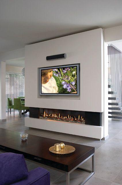 Diseños modernos de chimenea Ideas para el hogar Pinterest - chimeneas modernas