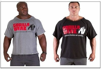 Mens Bodybuilding Clothing Workout Top Gym Rag Top T-Shirt Fitness Apparel XXL