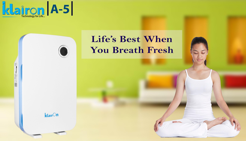 Klairon A5 air purifier fully optimize the air passage