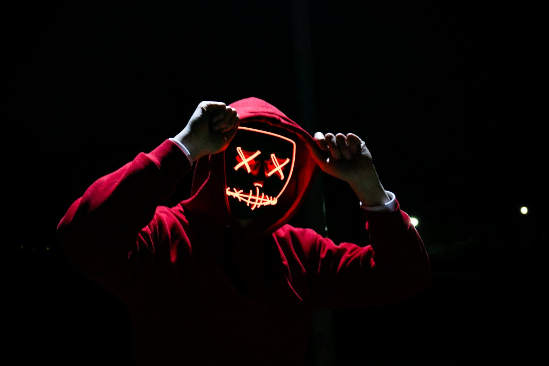 Top 5 Scariest Movies Of All Time Black Wallpaper Red Hoodie Free Stock Photos