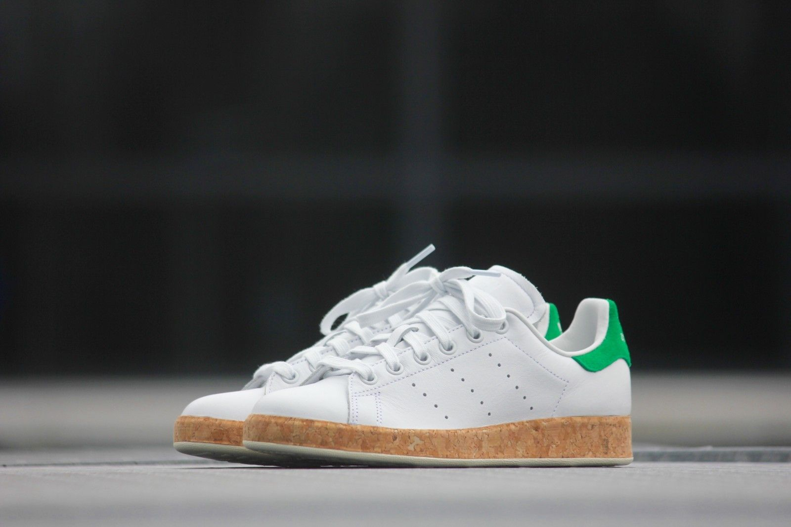 adidas originals stan smith luxe with cork sole sneakers