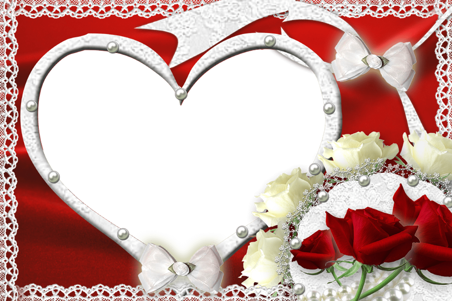 Romantic love photo frame free download
