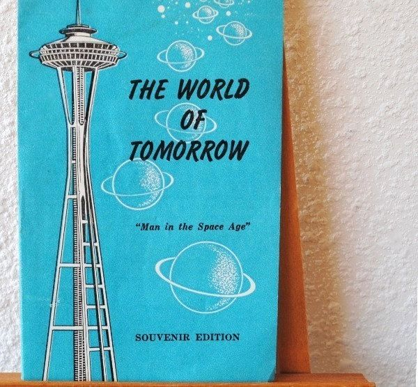 1962 Seattle Worlds Fair Souvenir Space Needle Booklet, Man in the - religious brochure