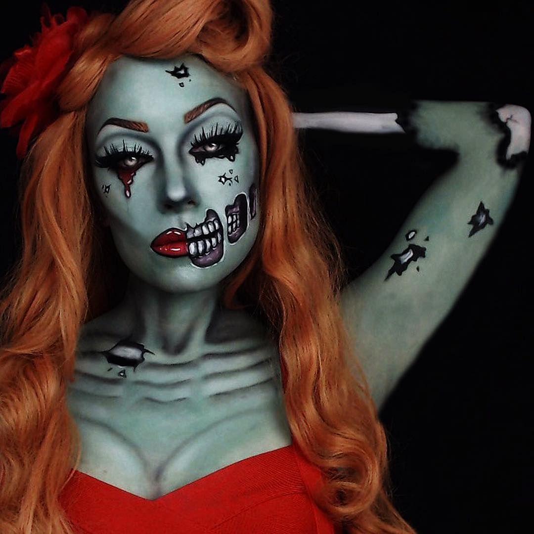 Halloween Zombie Schmink.Inspiration Alle Accessoires Und Eine Schmink Anleitung